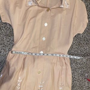 Rhapsody Dresses - Peach 1950s Housewife Dress